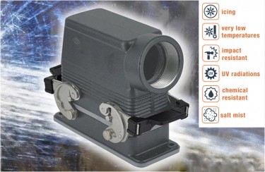 CORROSION-PROOF METAL ENCLOSURES FOR MULTIPOLE CONNECTORS