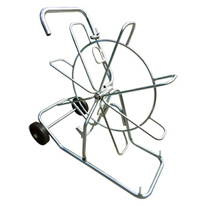 Ø1000 mm REEL WITH WHEELS IN GALVANIZED STEEL