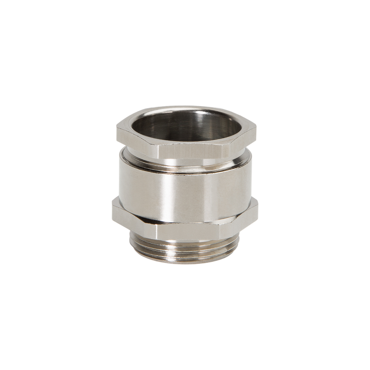 "HEXAGONAL CABLE GLANDS"" METRIC"" FLAT CABLE BRASS NICKEL"