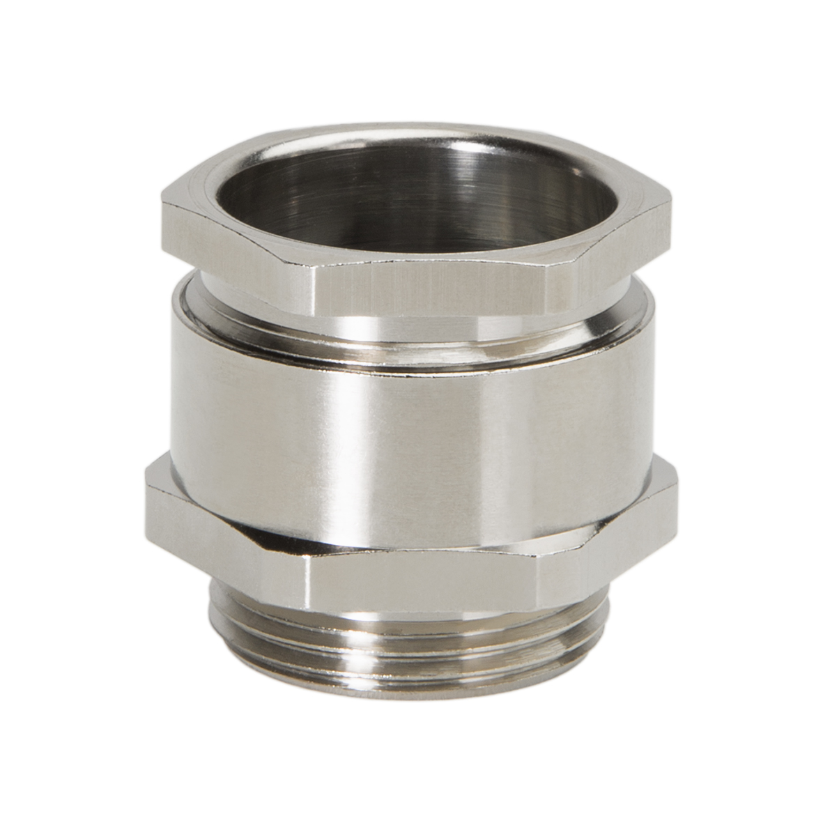 "HEXAGONAL CABLE GLANDS ""METRIC"" BRASS NICKEL"