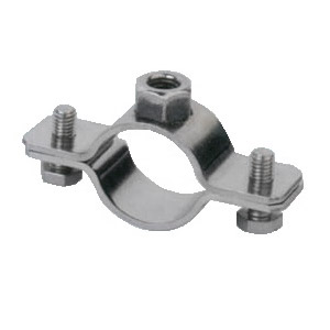 STAINLESS STEEL SUPPORT CLAMP WITH LOCK NUT