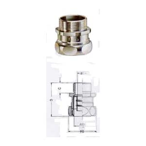 """""""USE-P"""" & """"USE-M"""" CONNECTOR BRASS NICKEL PLATED"""