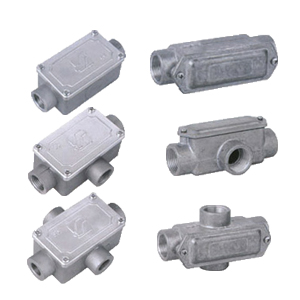 JUNCTION BOXES ALUMINIUM-THREADED OUTLET